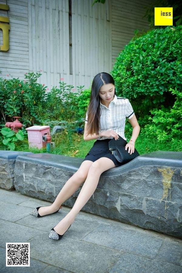 [IESS异思趣向] 2018.02.14 丝享家169:《坐在石凳上的美女》七七 [99P-55.2M]